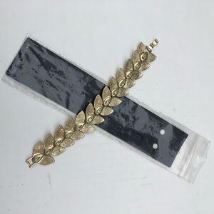 New Banana Republic Goldtone Leaf Bracelet